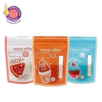 Natural Moms Kantong ASI 120 ml - Thermal Sensor - Booster Edition