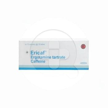 Ericaf tablet adalah obat untuk mengobati dan mencegah serangan migrain atau sakit kepala sebelah
