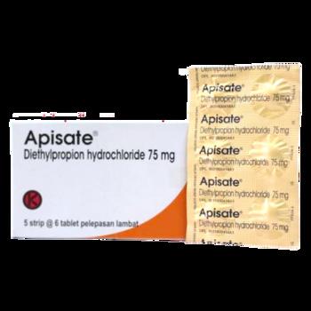 Apisate tablet digunakan untuk menurunkan berat badan.
