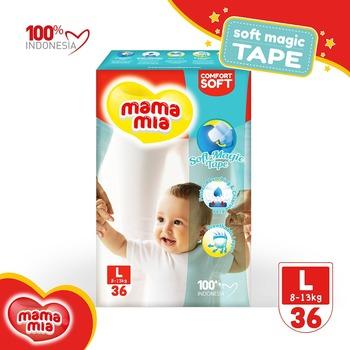 Mamamia Baby Diapers Soft Magic Tape L36 harga terbaik 52851