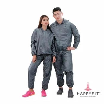 Happyfit Sauna Suit With Zipperhood Grey - XXL harga terbaik 160000