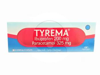 Tyrema kaplet digunakan untuk meredakan nyeri dan menurunkan demam.