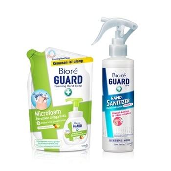 Biore Guard Hand Sanitizer and Hand Soap Fresh Package harga terbaik 92323