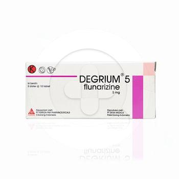 Degrium tablet adalah obat untuk mencegah serangan sakit kepala sebelah atau migrain