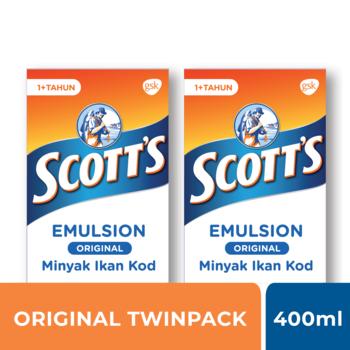 Scotts Emulsion Original A dan D 400 ml - TWINPACK harga terbaik