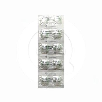 Renatac tablet digunakan untuk mengatasi luka pada dinding lambung dan usus 12 jari.