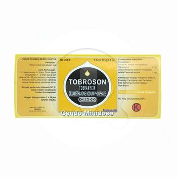 Cendo Tobroson minidose tetes mata adalah obat untuk mengobati infeksi mata akibat bakteri