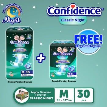 Confidence Classic Night M 30s BUY 1 GET Confidence Classic Night M 8s harga terbaik