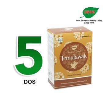 Jamu IBOE - 5 Box IBOE Natural Drink Temulawak 5 Sachet harga terbaik