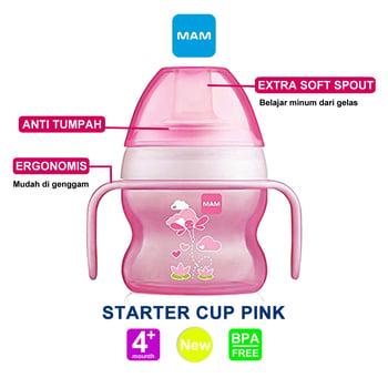 MAM Starter Cup 150 ml 4 Months Plus - Pink harga terbaik 109771