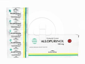 Allopurinol Kimia Farma Tablet 100 mg  harga terbaik 3002
