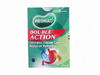 Promag Double Action tablet adalah obat untuk mengurangi gejala-gejala akibat kelebihan asam lambung