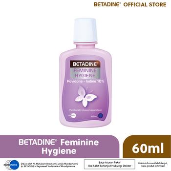 Betadine Feminine Hygiene 60 ml merupakan pembersih khusus kewanitaan