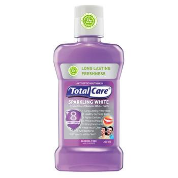 Total Care Anti Bacterial Mouthwash Sparkling White 250 ml harga terbaik