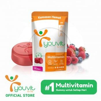 Youvit Multivitamin Gummy Dewasa 30 Day - 30pcs harga terbaik 59900