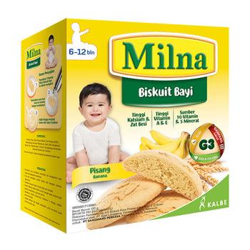 biskuit bayi terbaik, Milna Biskuit Bayi Pisang 130 g