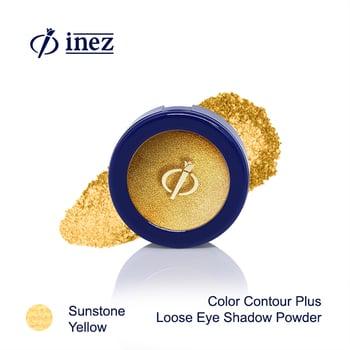 Inez Loose Eyeshadow Powder Sunstone Yellow harga terbaik