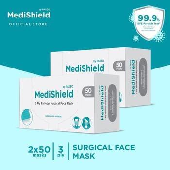 Medishield by Paseo Masker Surgical Earloop 3Ply  harga terbaik 198000