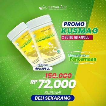 PROMO 2 Botol - Borobudur Herbal Kusmag Kapsul  harga terbaik 72000