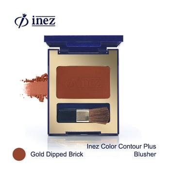 Inez Color Contour Plus Blusher - Gold Dipped Brick harga terbaik