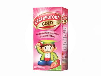 Cerebrofort Gold Rasa Strawberry Sirup 100 mL harga terbaik 18315