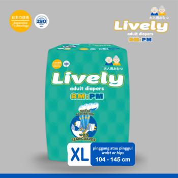 LIVELY Popok Dewasa Tipe Perekat XL6 harga terbaik
