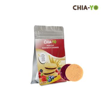 Chia-Yo Sandwich Cookies Mix Berries 114 g harga terbaik 29500