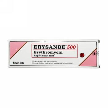 Erysanbe kaplet adalah obat untuk mengatasi berbagai infeksi yang disebabkan oleh bakteri.