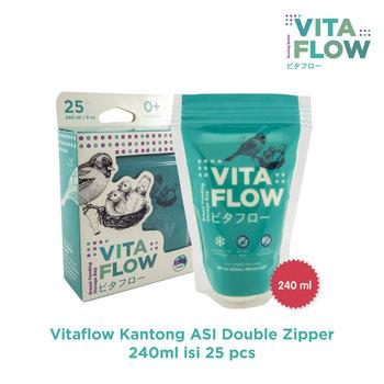 VITAFLOW Kantong ASI 240 mL - Double Zipper Anti Bocor harga terbaik 46000