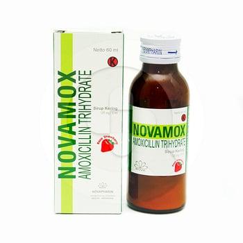 Novamox sirup kering 60 ml antibiotik penisilin untuk mengobati berbagai macam infeksi bakteri.