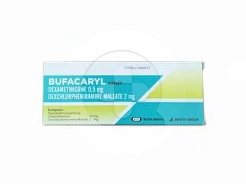 Bufacaryl kaplet adalah obat untuk mengatasi alergi yang responsif terhadap kortikosteroid.