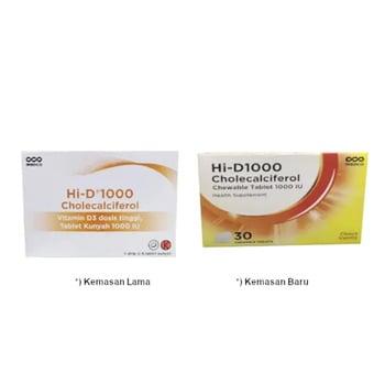 HI-D 1000 tablet adalah obat yang digunakan untuk menambahkan kadar vitamin D