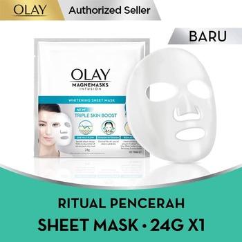 Olay Magnemask Infusion Advance Whitening Sheet Mask 24 g harga terbaik