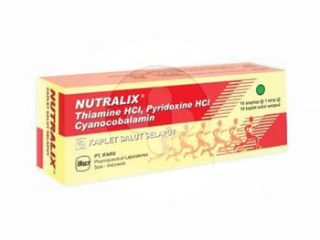 Nutralix kaplet digunakan untuk mencegah dan mengobati kondisi saat kekurangan vitamin B