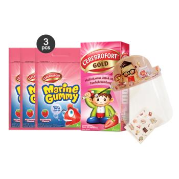 Paket Omega 3 : Cerebrofort Strawberry x Big Bear harga terbaik