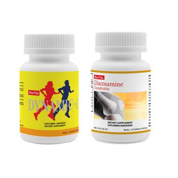 Paket Maxvita Dynamic C 250mg 30 Tablet & Maxvita Glucosamine 30 Tablet harga terbaik 318000