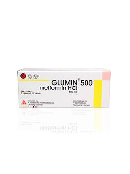 Glumin tablet adalah obat untuk menurunkan kadar gula darah pada pasien diabetes melitus tipe 2.