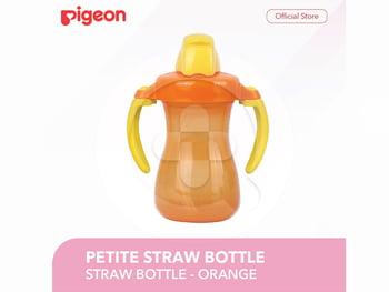 Pigeon Petite Straw Bottle - Orange harga terbaik 73500