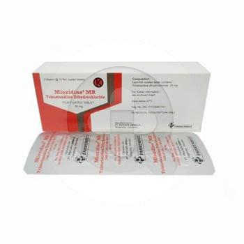 Miozidine MR adalah obat untuk mengatasi nyeri dada (angina pektoris).