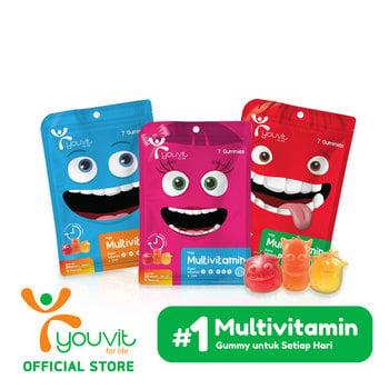 Youvit Multivitamin Gummy Anak 7 Days - 7pcs harga terbaik 16900