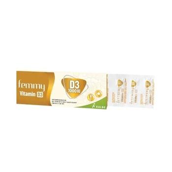 Femmy Vitamin D3 tablet adalah suplemen untuk membantu memenuhi kebutuhan vitamin D