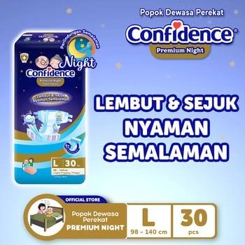 Confidence Popok Dewasa Premium Night L 30  harga terbaik