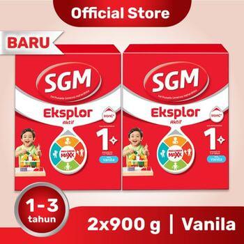 Paket 2 - SGM Eksplor 1 Plus Susu Pertumbuhan 1-3 Tahun Vanila 900 g harga terbaik