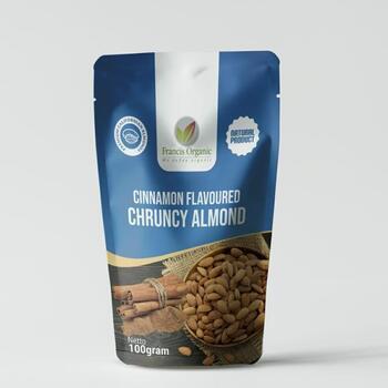 Francis Organic Cinnamon Flavoured Crunchy Almond 100 g harga terbaik 35000
