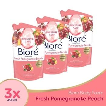 Biore Body Foam Fresh Pomegranate 450 ml - Triple Pack harga terbaik 79824