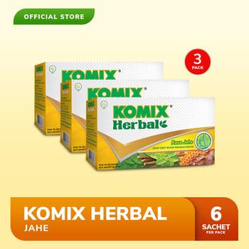 Komix Herbal Jahe 3 Pack  harga terbaik 39600