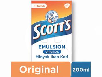 Scotts Emulsion Original dengan Omega 3, Vitamin A dan D 200 mL harga terbaik 36030