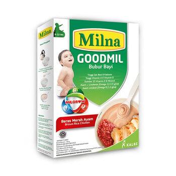 Milna Goodmil Bubur Khusus Beras Merah Ayam 6+ - 120 g harga terbaik