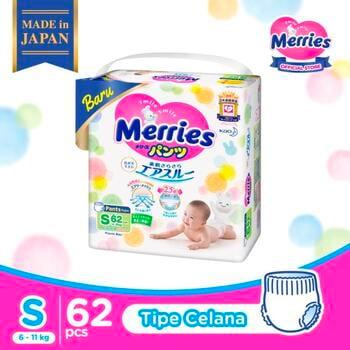 Merries Premium Popok Bayi Celana S 62 harga terbaik 280800