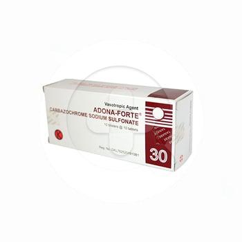 Adona-Forte tablet adalah obat untuk menghentikan terjadinya perdarahan.
